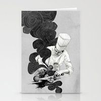 chef Stationery Cards featuring Galactic Chef by Kyle Cobban