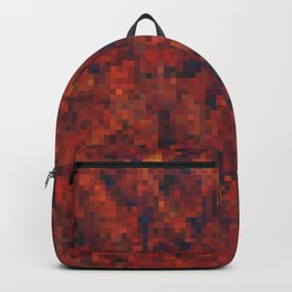 Hell Magma - Digital Pixel Texture Backpack