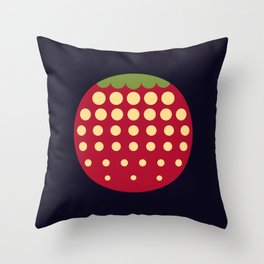 strawberry || russian black Throw Pillow