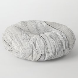 Old white wood Floor Pillow