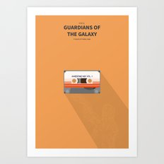 Guardians of the galaxy - minimal poster Art Print