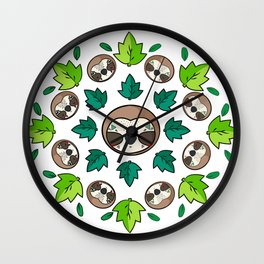 Mandala Sloth Wall Clock