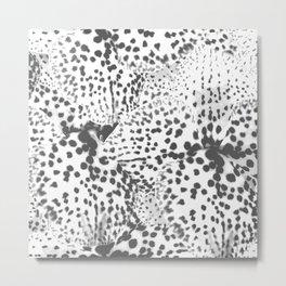 Dalmatian spots in Grey  Metal Print