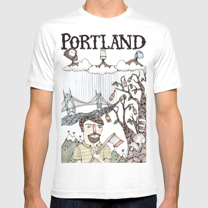 Portland Oregon T Shirt By Bweeber Society6