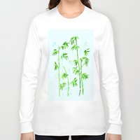 poetry Long Sleeve T-shirts featuring Japanese Poetry by Mivi Saenz on Aqua Expressions