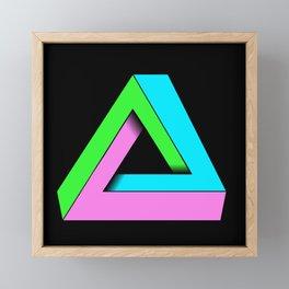 90s pop art optical illusion Framed Mini Art Print