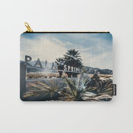 Palm Springs Sign Sun Rays Carry-All Pouch