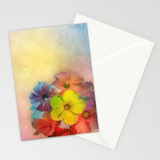 Colorful Hibiscus Bouquet Stationery Cards