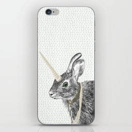 uni-hare All animals are magical iPhone Skin