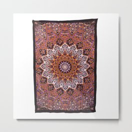 indian star hippie tapestry wall hanging Metal Print