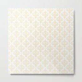 Elegant vintage pastel colors boutique floral damask stylish pattern Metal Print