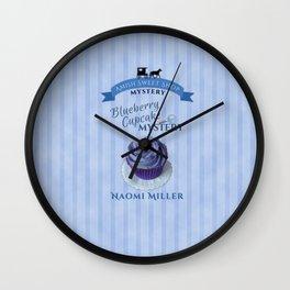 Blueberry Cupcake Mystery Wall Clock