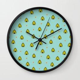 Beehives Wall Clock