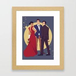 JLA Trinity Framed Art Print