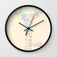 key Wall Clocks featuring Key by Matisse Lin