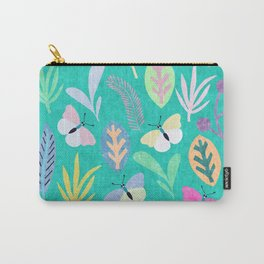 Flower and Butterfly V Carry-All Pouch