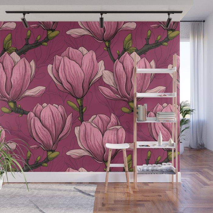 Magnolia garden Wall Mural