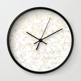 Reflection of the golden glare with marble Wall Clock