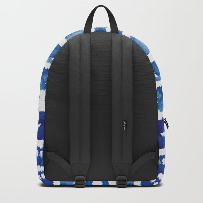 Shibori Vivid Indigo Blue and White Backpack