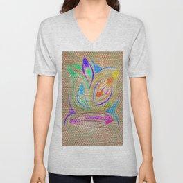 Colorful Lotus flower - uma releitura Unisex V-Neck