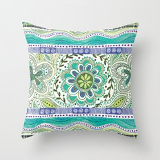 Boho Bloom Throw Pillow