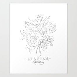 Alabama Sketch Art Print