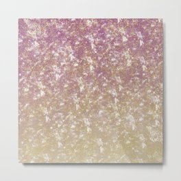 Gold Pink Sparkle Ombre Metal Print