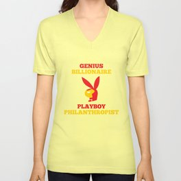 Genius Billionaire Playboy Philanthropist Unisex V-Neck