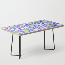 Sea Turtle and Sun Abstract Glitch Ultraviolet Symbol Coffee Table