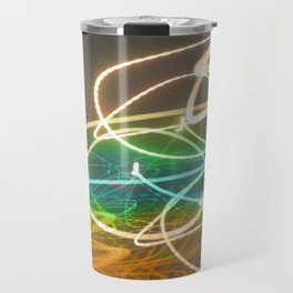 Rainbow Light Graffiti Travel Mug