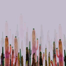 Art Print - cactus water color colors - franciscomffonseca