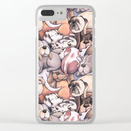Sleeping Dogs Pattern Clear iPhone Case