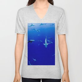Party Sharks Unisex V-Neck