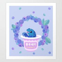 Blueberry poison yogurt 2 Art Print