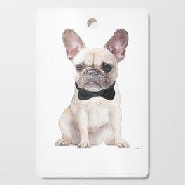 Cream French bulldog, bow tie, Frenchie, Puppy, Cutting Board