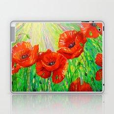 Poppies in sunlight Laptop & iPad Skin