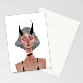 Demon (clear version) Stationery Cards