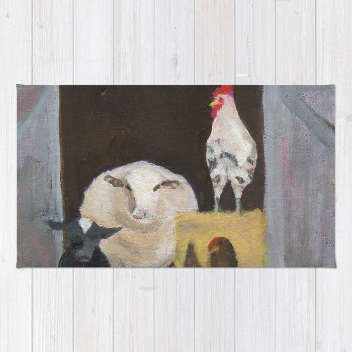 Barnhouse friends by Kimberly Schulz Rug