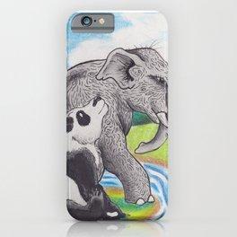 Panda and Elephant iPhone Case