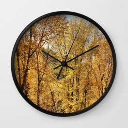 A Perfect Autumn Moment Wall Clock