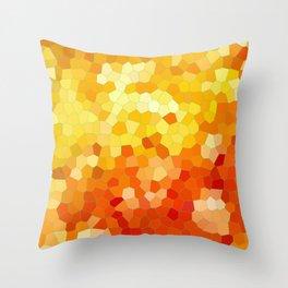 Honey Pot Mosaic Pattern Throw Pillow