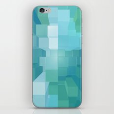 Blue and Green 3D iPhone Skin