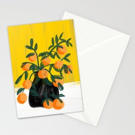 Oranges in Vase No 02 Stationery Cards
