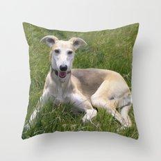Lurcher  Throw Pillow