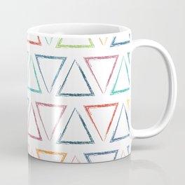 Triangular Peaks Pattern - Rainbow #622 Coffee Mug