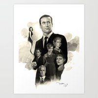 mad men Art Prints featuring Mad Men by Nithin Rao Kumblekar