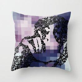 Kanji Calligraphy Art :woman's face #39 Throw Pillow