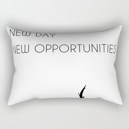 New Day - New opportunities Rectangular Pillow