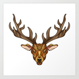 Deer Park- MI_Brown Art Print