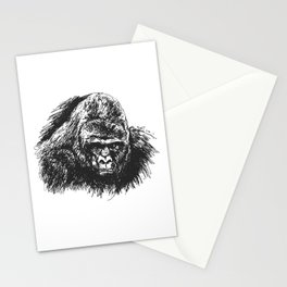 Gorilla head Stationery Cards